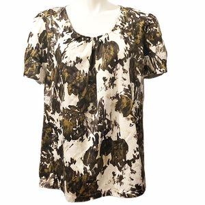 Mossimo Patterned Short Sleeve Blouse.  28W/30W